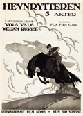 "Movie Posters:Western, The Iron Rider (Fox, 1920). Norwegian One Sheet (24.75"" X 34.5"")....."