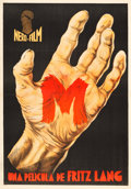 "Movie Posters:Crime, M (Nero-Film AG, 1931). Spanish One Sheet (30.25"" X 43.25"").. ..."
