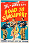 "Movie Posters:Comedy, Road to Singapore (Paramount, 1940). One Sheet (27"" X 40.75"").. ..."