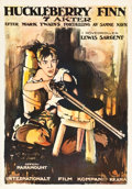 "Movie Posters:Drama, Huckleberry Finn (Paramount, 1920). Norwegian One Sheet (25.25"" X36"").. ..."