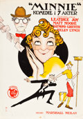 "Movie Posters:Comedy, Minnie (First National, 1922). Norwegian One Sheet (24.5"" X 35.5"").. ..."