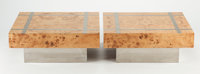 MILO BAUGHMAN (American, 1923-2003) Coffee Table (set of two), circa 1960, Thayer Coggin Burl elm, c