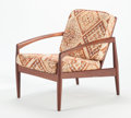 Furniture, KAI KRISTIANSEN (Danish, b. 1929). Paper Knife Chair, 1955. Teak, upholstered cushions.. 29-3/4 x 25 x 29 inches (75.6 x...