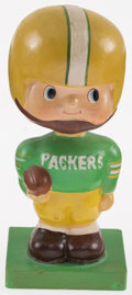 Football Collectibles:Others, 1960 Green Bay Packers Wood Base Nodder - All Original! ...