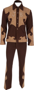 Music Memorabilia:Costumes, James Brown Western-Style Funky Suit, Circa 1977....