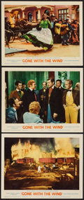 """Movie Posters:Academy Award Winners, Gone with the Wind (MGM, R-1961). Lobby Cards (3) (11"""" X 14""""). Academy Award Winners.. ... (Total: 3 Items)"""