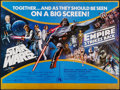 """Movie Posters:Science Fiction, Star Wars/The Empire Strikes Back Combo (20th Century Fox, R-1981).British Quad (30"""" X 40""""). Science Fiction.. ..."""