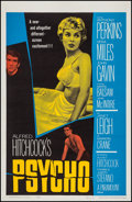 "Movie Posters:Hitchcock, Psycho (Paramount, 1960). One Sheet (27"" X 41""). Hitchcock.. ..."