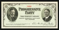 Miscellaneous:Other, Progressive Party Charter Membership Certificate 1912 Campaign $1Contribution.. ...