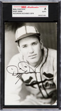 Baseball Collectibles:Others, 1930's Dizzy Dean Signed Postcard. ...