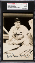 Baseball Collectibles:Others, 1940's Hank Greenberg Signed Postcard. ...