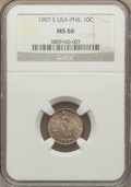 Philippines, Philippines: USA Administration 10 Cents 1907-S MS66 NGC,...