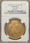 Mexico, Mexico: Charles IV gold 8 Escudos 1805 Mo-TH VF Details (Tooled)NGC,...