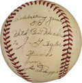 Autographs:Baseballs, 1941 Joe DiMaggio Signed Baseball Used in 50th Hit Game ofStreak....