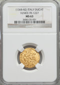 Italy:Venice, Italy: Venice. Andrea Contanni gold Ducat ND (1368-82) MS63 NGC,...