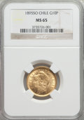 Chile, Chile: Republic gold 10 Pesos 1895-So MS65 NGC,...