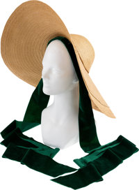 "A Vivien Leigh Iconic Straw Hat from ""Gone With The Wind."""