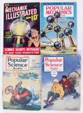 Magazines:Miscellaneous, Assorted Vintage Science and Mechanics Magazines Box Lot (Various Publishers, 1961-59) Condition: Average VG....