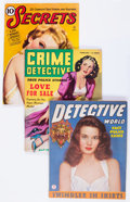 Magazines:Miscellaneous, Assorted Detective/True Crime Magazines Box Lot (Various Publishers, 1930s-'60s) Condition: Average VG....