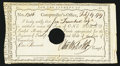 Colonial Notes:Connecticut, Connecticut Interest Certificate £1 February 19, 1789 AndersonCT-52 Very Fine, HOC.. ...