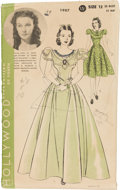 """Movie/TV Memorabilia:Memorabilia, A Vintage Dress Pattern Related to """"Gone With The Wind,"""" Circa1939...."""