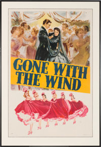 "A One-Sheet Poster from ""Gone With The Wind."""
