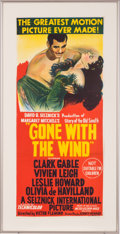 "Movie/TV Memorabilia:Posters, An Australian Daybill Poster from ""Gone With The Wind.""..."