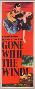 "Movie/TV Memorabilia:Posters, An Insert Poster from ""Gone With The Wind.""..."