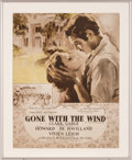 "Movie/TV Memorabilia:Posters, A Rare Advertisement for ""Gone With The Wind.""..."