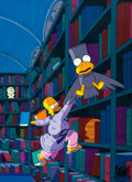 "Animation Art:Production Cel, The Simpsons ""The Simpsons Halloween Special"" Homer and BartSimpson from ""The Raven"" Production Cel Setup (Fox, 1990)...(Total: 2 Original Art)"