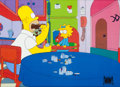 "Animation Art:Production Cel, The Simpsons ""Homer Alone"" Homer an Maggie Production Cel(Fox, 1992).... (Total: 2 Items)"