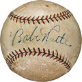 Autographs:Baseballs, 1934 Babe Ruth Single Signed Baseball from Tour of Japan Stop inHawaii....