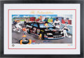 Autographs:Others, 2000 Dale Earnhardt Sr. Signed Looney Tunes Lithograph. ...
