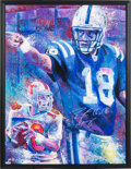 Football Collectibles:Others, Late 2000's Peyton Manning Signed Giclee Print....