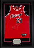 Basketball Collectibles:Uniforms, 2003 Michael Jordan Signed 1984 Rookie Style Jersey from Upper DeckAuthenticated. ...