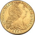 British West Indies, British West Indies: British Colonial West Indies imitation gold6400 Reis 1762-R AU - Mount Removed,...