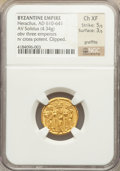 Ancients:Byzantine, Ancients: Heraclius (AD 610-641). AV solidus (4.34 gm)....