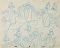 animation art:Model Sheet, Cinderella The Grand Duke Animation Model Sheet Art (WaltDisney, 1950)....