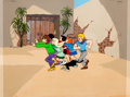 Animation Art:Production Cel, Josie and the Pussycats Production Cel and Master BackgroundSetup (Hanna-Barbera, 1970).... (Total: 4 Original Art)