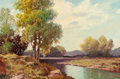 Fine Art - Painting, American, A.D. GREER (American, 1904-1998). Texas River Scene. Oil on canvas . 24 x 36 inches (61.0 x 91.4 cm). Signed lower left:...