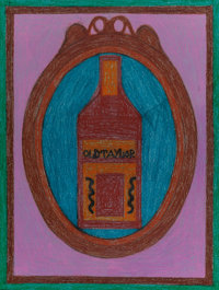 EDDIE ARNING (American, 1898-1992) Old Taylor Crayon on paper 25-3/8 x 19-1/2 inches (64.5 x 49.5