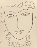 Fine Art - Work on Paper:Print, HENRI MATISSE (French, 1869-1954). Madame Pompadour, 1954.Lithograph. 12-3/8 x 9-5/8 inches (31.5 x 24.4 cm). Published...