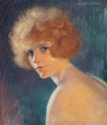 Fine Art - Work on Paper:Drawing, JACQUES WEISMANN (French, b. 1878). Portrait of a Woman,circa 1900. Pastel on paper laid on board 18 x 15 inches (45.7 ...