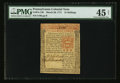 Colonial Notes:Pennsylvania, Pennsylvania March 20, 1771 15s PMG Choice Extremely Fine 45 Net.....