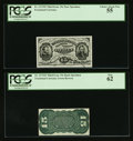 Fractional Currency:Third Issue, Fr. 1272SP 15¢ Third Issue Narrow Margin Pair PCGS Choice About New 55 and PCGS New 62.. ... (Total: 2 notes)