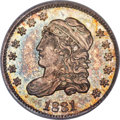 Bust Half Dimes, 1831 H10C V-4, LM-4, R.2, MS66 PCGS. CAC....