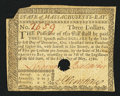 Colonial Notes:Massachusetts, Massachusetts May 5, 1780 $3 Hole Cancel Very Fine.. ...