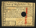 Colonial Notes:Massachusetts, Massachusetts May 5, 1780 $20 Hole Cancel Very Fine-ExtremelyFine.. ...