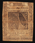 Colonial Notes:Pennsylvania, Pennsylvania December 8, 1775 30s Very Fine.. ...
