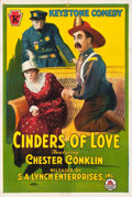 "Movie Posters:Comedy, Cinders of Love (S.A. Lynch, R-1920). One Sheet (27.5"" X 41"").. ..."